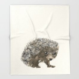 little hedgehog Throw Blanket