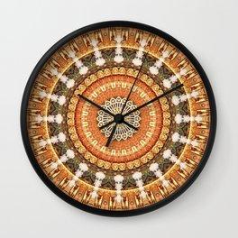 Mandala thankfulness Wall Clock