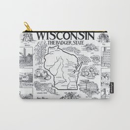 Vintage Map of Wisconsin (1912) Carry-All Pouch