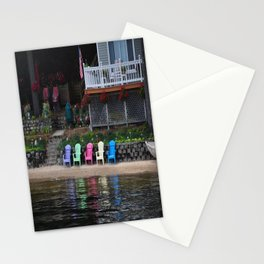 Beach Chairs Stationery Cards