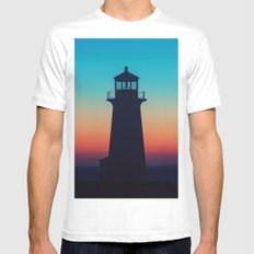 Deep Twilight MEDIUM Mens Fitted Tee White