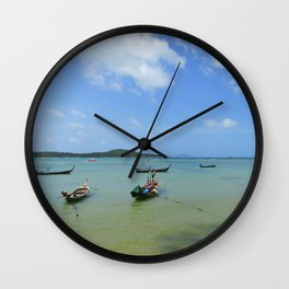 Phuket seascape Wall Clock