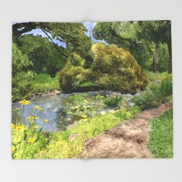 Pearl S Buck Front Garden Throw Blanket