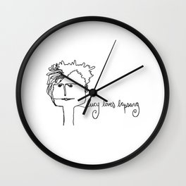 lucy loves lapsang Wall Clock