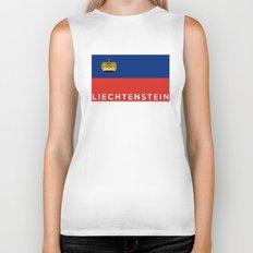 Liechtenstein country flag name text Biker Tank