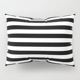 Modern Black White Stripes Monochrome Pattern Pillow Sham
