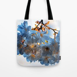 SPRING BLOSSOMS - IN BLUE Tote Bag