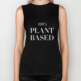 100% Plant Based Statement Tee Biker Tank