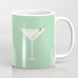 Vintage Mint Green Martini with Olives Coffee Mug