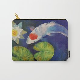 Tancho Koi and Water Lily Carry-All Pouch