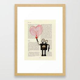 Love Robot - by Genu WORDISIAC™ TYPOGY™ Framed Art Print