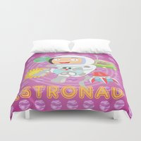 astronaut Duvet Covers featuring Astronaut by Alapapaju
