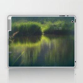turtle swimming away at Trojan pond, near Goble, Oregon Laptop & iPad Skin