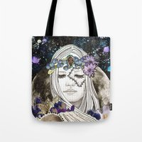 luna Tote Bags featuring Luna by Jenndalyn