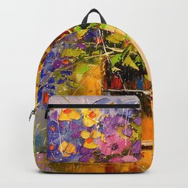 A bouquet of wild flowers Backpack
