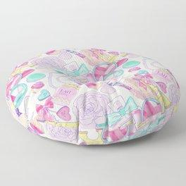 pink paris pattern Floor Pillow
