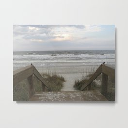The Beach Beckons Metal Print