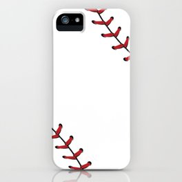Baseball Laces iPhone Case