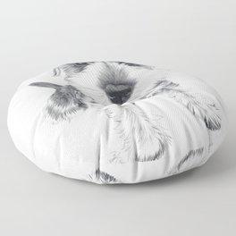 Schnozz the Schnauzer Floor Pillow