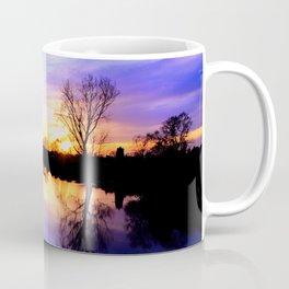 River in flood at sunset Coffee Mug