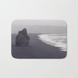 Black beach Bath Mat