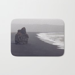 Black beach Bath Mat