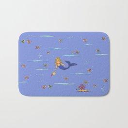 Fashionable mermaid - violet Bath Mat