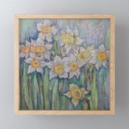 Narcissus SPRING FLOWERS IN THE GARDEN Framed Mini Art Print