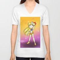 sailor venus V-neck T-shirts featuring Sailor Venus by Thedustyphoenix