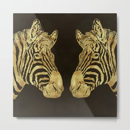 Golden Zebra African wildlife Metal Print