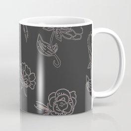 Dark Hemp Floral Coffee Mug