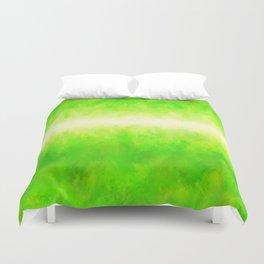 Yellow Green Lime Grass Duvet Cover