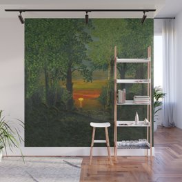 Forest Sunset Wall Mural