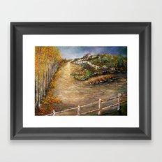 The Old Farm House in Autumn Framed Art Print