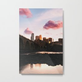 Minneapolis Skyline Sunset Metal Print