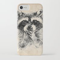 rocket raccoon iPhone & iPod Cases featuring Surprised raccoon by Anna Shell