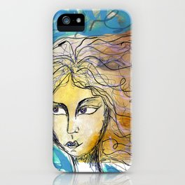 Mysterious Girl iPhone Case