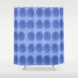 blue daisy burst pattern Shower Curtain