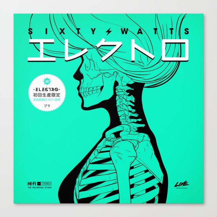 Electro - Japanese Version Canvas Print