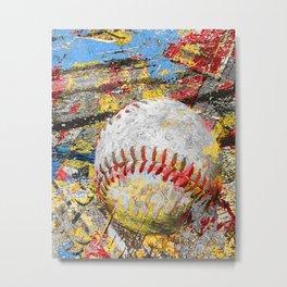Baseball art print work 9 Metal Print