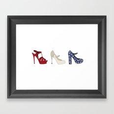 Red, White and Choo Framed Art Print