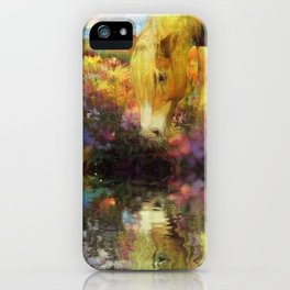 Bella Drinking in the Wildflowers iPhone Case