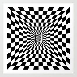 Optical Illusion Hallway Art Print
