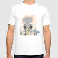 The one with head Mens Fitted Tee White MEDIUM