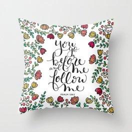 Psalm 139:5 Throw Pillow