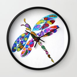 Fractured Dragongly Wall Clock