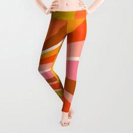 Sunshine Swirl – Retro Ochre Leggings
