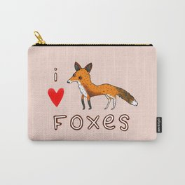Fox Love Carry-All Pouch