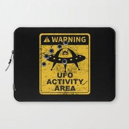 Warning, UFO activity area Laptop Sleeve