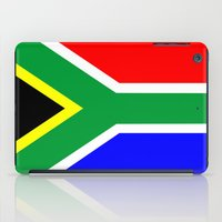 south africa iPad Cases featuring south africa country flag by tony tudor